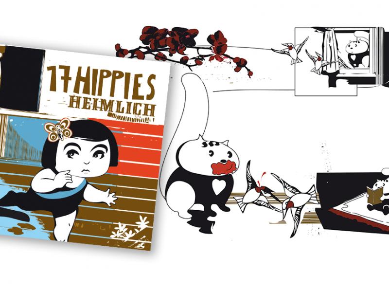 17 Hippies - Heimlich - CD 2007 Booklet Detail